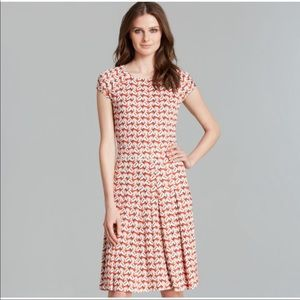TORY BURCH pink bird print dress